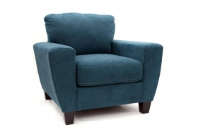 Fotoliu piele SINJAI   SAGEN BLUE  Armchair textile