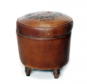 Taburet PROVENCE din textil  No 23 leather stool