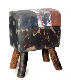 Mobilier  Stool, textile
