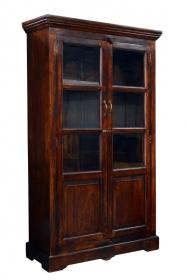 Dulap din lemn masiv - PW16-S4 Dulap UDYAN din lemn masiv cu vitrina