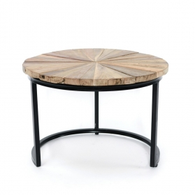 Masute Cafea Teak TASYA-B wood and metal TASY table