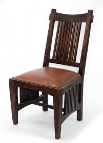 Scaun din piele REGIZOR  Scaun din lemn masiv si piele