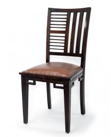 Scaun din lemn de tec   Scaun din lemn masiv si piele