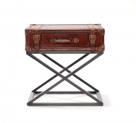 Camera de zi MARLOWEE leather Table with 1 drawer