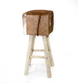 Scaun de bar din lemn si piele Scaun de bar din lemn si piele