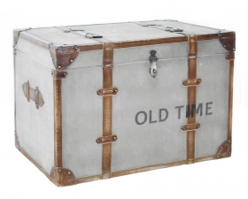 Cufar-taburet stil Industrial - SG-38 Solid wood Old Time chest, big