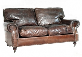 Canapea WILLIAM, 2 locuri Canapea din piele vintage BALMORAL