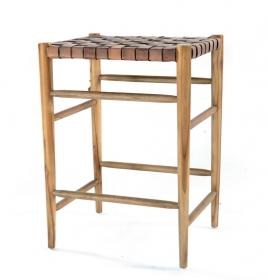 Mobilier Pub-uri Scaun de bar TIDAR din lemn si piele