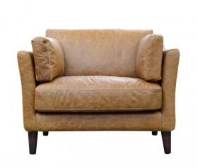 Fotoliu piele SINJAI  CARMEL vintage leather Armchair