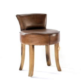 Mobilier  Leather Stool LALYA