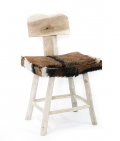 Taburet pliabil din piele SOPENG Stool solid wood and leather