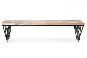 Bancute Solid KAVINDRA wood bench, rustic finish