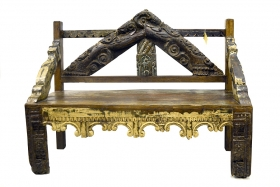 Old India Indian solid wood bench, Antique