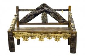 Masa din lemn masiv  Banca din lemn masiv, Antique - AK16-30-3