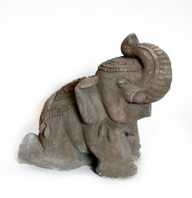 Fantana de gradina - Black Monolit Elephant Statuette