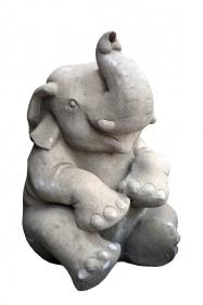 Obiect decorativ din piatra sculptat - Buddha Fantana Elefant - T16-PK13F