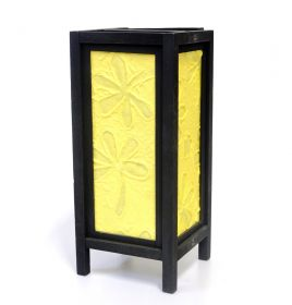 Lampa electrica din rattan  Veioza traditionala Thai YELLOW