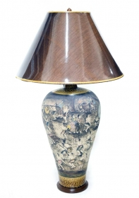 Veioza electrica Thai din ceramica  Ceramic Thai lamp - T16-PC6L