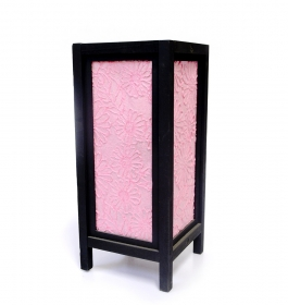 Veioza cu abajur din satin - VN-26540 PINK Traditional Thai lamp