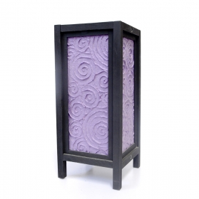 Lampa electrica din rattan  Veioza traditionala Thai PURPLE