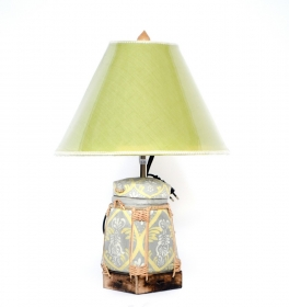 Veioza electrica Thai din ceramica  Thai lamp crafted from a traditional basket - T16-PB1L--2