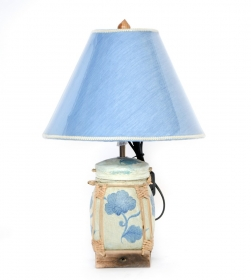 Veioza cu abajur din satin - VN-26540 Thai lamp crafted from a traditional basket - T16-PB1L--4