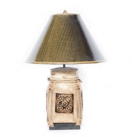 Veioza cu abajur din satin - VN-26540 Thai lamp crafted from a traditional basket - T16-PB3L- -1