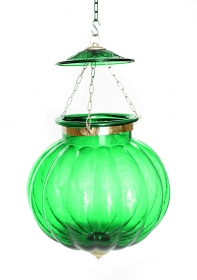 Lampa Industial metal Rust  Green Ceiling lamp, large size