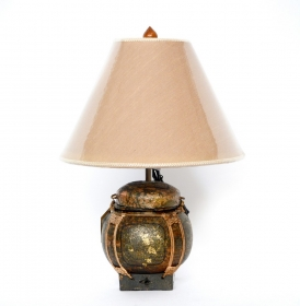 Veioza electrica Thai din ceramica - T16-PL4L Thai lamp crafted from a traditional basket - T16-PB1L--8