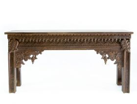 Camera de zi  ANANDA Indian solid wood console table, Antique