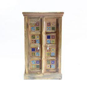 Dulapuri Dulap HAMIR din lemn masiv decorat cu placi ceramice