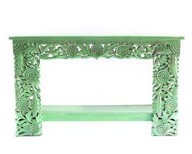 Comoda Tv CHARU din lemn masiv  ANKITA Indian solid wood carved console table