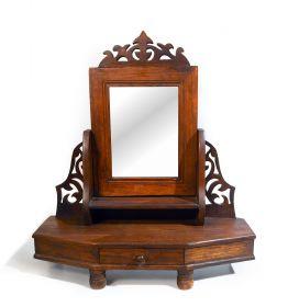 Rama sculptata din lemn masiv, finisaj antichizat Caseta din lemn cu oglinda