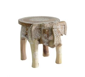 Scaunel piele LALYA Solid wood painted stool