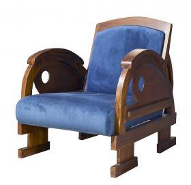 Fotoliu textil MILARI Fotoliu - MANIS BLUE