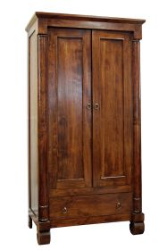 Dulap JAIDEV din lemn cu vitrina  Solid wood wardrobe with 1 drawer and 2 doors