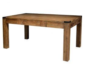 Masa din lemn masiv, finisaj rustic Masa dining extensibila din lemn de tec