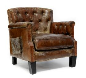 Fotoliu piele KEEBLE WING Armchair vintage leather