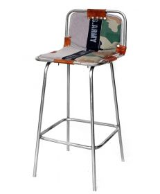 Scaun imbracat in material textil - U-SC Army bar Chair