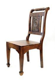 Scaun din piele LOSARI Scaun din lemn masiv NE-2907