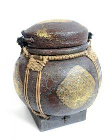 Cos din lemn  Cos traditional Thai, pictat - T16-NACOS-1