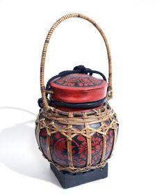 Cutie Red pentru sticle  Cos traditional Thai, pictat - 43787-04
