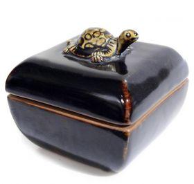 Cos din lemn  Bol din ceramica - Broscuta
