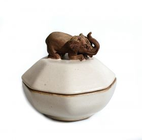 Cos traditional Thai, pictat - T16-N02COS-3 Bol din ceramica - Elefant