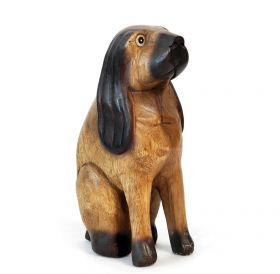 Statueta Elefant, din lemn pictat manual Dog statuette