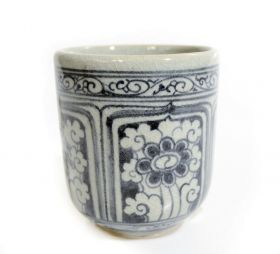 Dop sticla, ceramica pictata  Painted ceramic cup