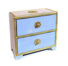 Dulapior din lemn pictat, 6 sertare - GPT18-GE862-2 Painted wooden cabinet with 2 drawers - GPT18-GE868-1