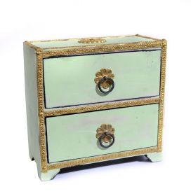 Dulapior pictat, 2 sertare ceramica - GPT18-GE857-2 Painted wooden cabinet with 2 drawers - GPT18-GE868-3