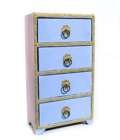 Cutie depozitare sticle de vin, pictata cu motive florale Painted wooden cabinet with 4 drawers - GPT18-GE869-1