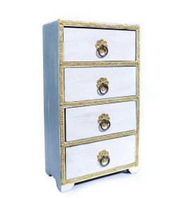 Dulapior pictat, 9 sertare ceramica - GPT18-GE864-4 Painted wooden cabinet with 4 drawers - GPT18-GE869-3